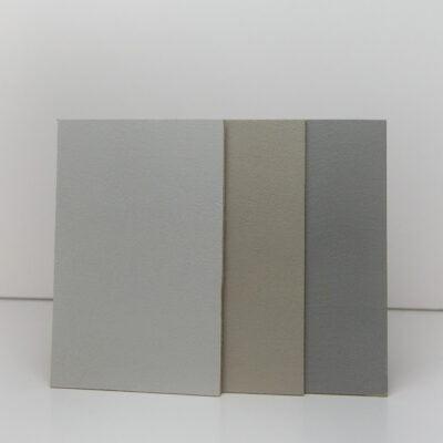 drei betonoptik mustertafeln betonkonzept
