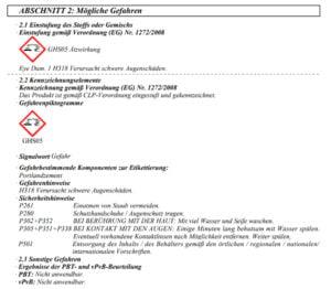 kennzeichnung wakol z 625